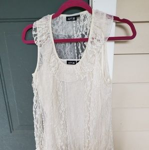BEAUTIFUL LACE  TOP FROM APT 9.